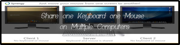 Share one Keyboard one Mouse on Multiple Computers
