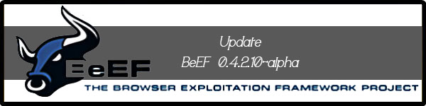 beef the browser exploitation Framework update download BeEF 0.4.2.10-alpha