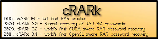 cRARK - Worlds Fastest utility to crack RAR -Freeware