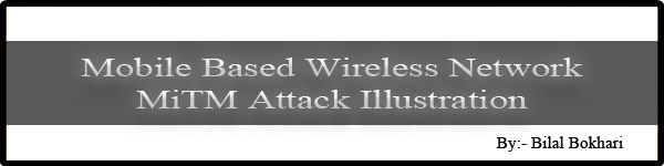 mobile based wireless network MiTM attack illustration by bilal bokhari