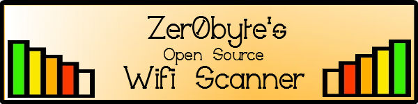 zer0 Byte Open Source wifi scanner