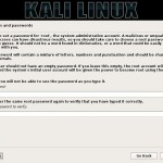 setting up root password during instalation