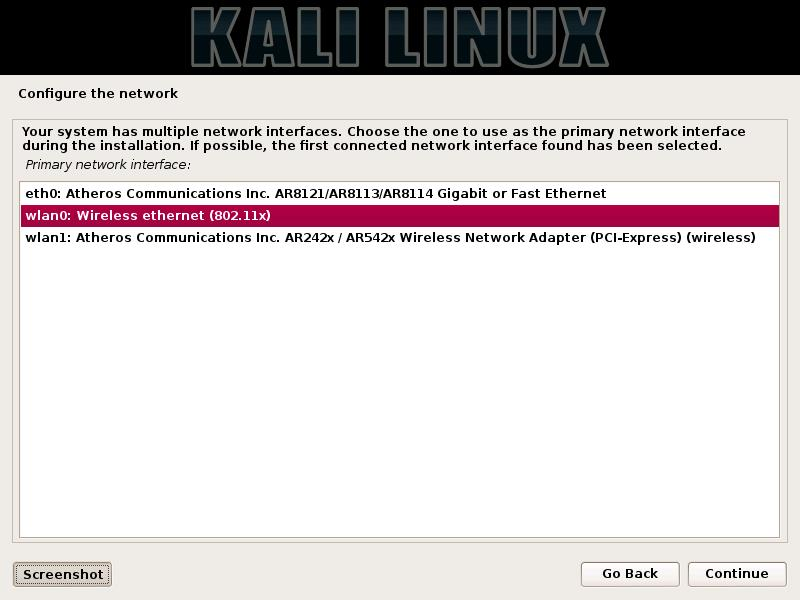 Kali Linux Complete Tools list and Installation Screen Shot